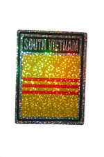 SOUTH VIETNAM COUNTRY FLAG  METALLIC BUMPER STICKER DECAL .. 4 X 3 INCH
