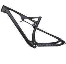 "27.5er+ BOOST 19"" BB92 UD matt Carbon Full Suspension Frame MTB Bike Thru axle"