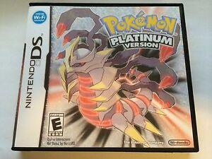 Pokemon Platinum - Nintendo DS - Replacement Case - No Game