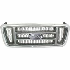 Grille For 2004-2008 Ford F-150 Chrome Shell w/ Gray Insert Plastic