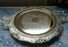 More details for new antique vintage retro silver plated serving tray dish plate bowl platter