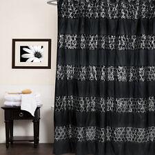 "Popular Bath Sinatra Black Collection - 70"" x 72"" Bathroom Shower Curtain"