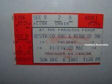 FLEETWOOD MAC Concert Ticket Stub 1987 FABULOUS FORUM L.A. Stevie Nicks TANGO