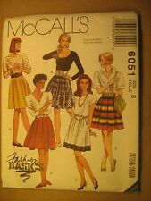 UNCUT Sewing Pattern 1992 McCALL'S 8,10 SKIRT 6051 [Z180]