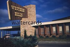 KODACHROME Red Border Slide 1950s Western Hills lodge Sequoyah Park Oklahoma