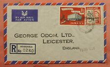 DR WHO 1964 JAMAICA PETERSFIELD REGISTERED AIRMAIL TO GB 163730
