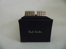 PAUL SMITH HOUNDS TOOTH SIGNATURE STRIPE CUFFLINKS SPIN TWIST (BNIB)
