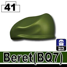 Green Beret (W16) BQ7 Army beret hat military compatible with toy brick minifig