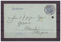 Deutsches Reich, Ganzsache P 57 Y innerhalb Olbernhau 08.01.1904
