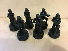 Star Wars Saga Edition Chess Game part, 6 Black Pawn Stormtroopers only