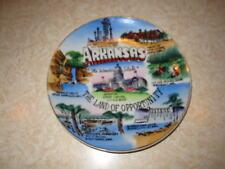 Vintage Souvenir Collector Arkansas State Plate 6 1/4 inch