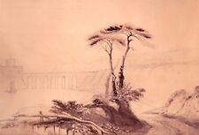 Círculo Joseph Klee William Turner 1775-1851 Acuarela Suiza C 1820