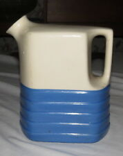 "Universal Pottery 8"" Blue & White Fridge Refrigerator Jug Pitcher"