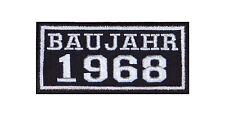Baujahr 1968 Biker Patches Aufnäher Jahreszahl Geburtsjahr Rocker Motorrad MC BJ