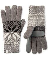 ISOTONER-Women's Signature Chenille Knit Snowflake Gloves, Chrome, One Size, NWT