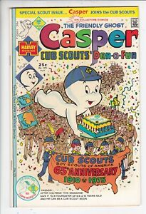 The Friendly Ghost Casper # 179 VF+ (8.5) Cub Scouts issue. Harvey. W/OW pages