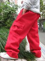 New Mens Cargo Baggy Hip Hop Long Pants Loose Trousers Athletic Sweatpants L-5XL