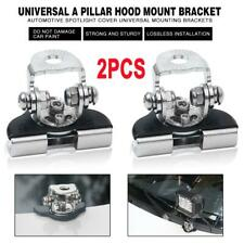 2PCS A Pillar Hood Clamp Holder Universal LED bar Mount Work lamp Bracket Truck