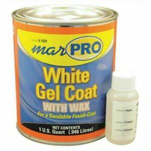 Marpro 601110600 Gel Coat WHITE with Wax QUART Boat Fiberglass Repair Marine