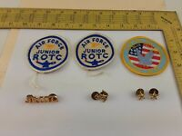 Lot of U.S.A.F. AIR FORCE JR. ROTC PATCH and Pins Blue Falcons Eagle