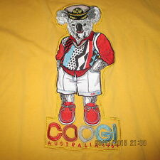 COOGI Captain Koala Embroidered Pull Over Shirt XL, Yellow, FREE SHIPPING