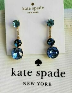 KATE SPADE NEW YORK LINEAR DROP EARRINGS BLUE MULTI NWT