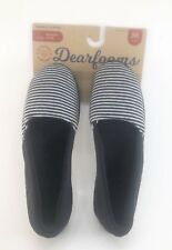 Dearfoam Womens Slippers Medium 7 8, Black And White Stripped Gift Wife Mom