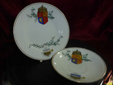 1887 QUEEN VICTORIA Golden Jubilee PLATE & SAUCER Hand painted RARE ROYAL WARE