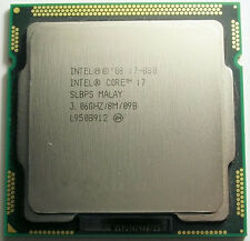 Intel Core i7 Quad Core i7-880 3.06GHz / 8MB Socket LGA1156 Processor SLBPS