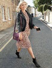 New M&S Collection Animal Print Long Sleeve Shirt  Dress Sz UK 20