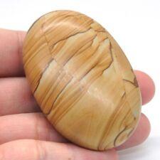 "2.3"" Worry Stone Picture Jasper Crystal Healing Gemstone Massage Palm Stone"