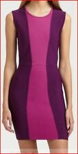 BCBG MAXAZRIA ALIZA BORDEAX COLOR BLOCK BANDAGE DRESS XS NWT $298-BoxB/46