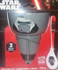 Star Wars Zak 3 Piece Mealtime Set Kylo Ren Bowl Cup and Spoon Toddler BPA FREE