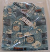 Disney Reyn Spooner Planes Fire Rescue Lasseter Hawaiian Aloha Shirt Medium NWT