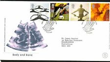 GB 2000 FDC Body and Bone , Glasgow postmark stamps