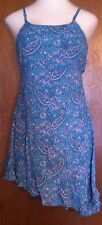 Funky People From Waves Surf Shop Blue Paisley Dress  Size M NWT!!!