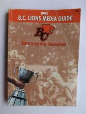 BC LIONS CFL CANADIAN FOOTBALL 1995 MEDIA GUIDE SCHEDULE BOOK MAGAZINE SOUVENIR