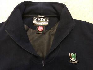 Zero Restriction Men's Comfortsuede  1/4 Zip Windstopper jacket XL. Pine Valley