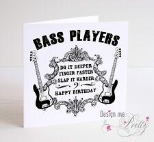 BASS GUITAR Funny BIRTHDAY CARD Bassist Fender Precision Jazz