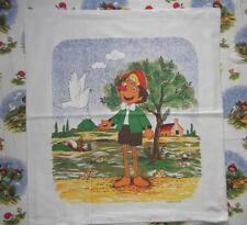 Pinocchio Kinder-Bettwäsche Vintage 80er /s Bedding Duvet Fabric Figur no Disney