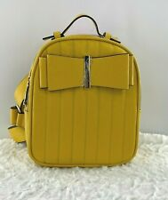 Betsey Johnson Mini Backpack Yellow Bow Handle Hand Bag