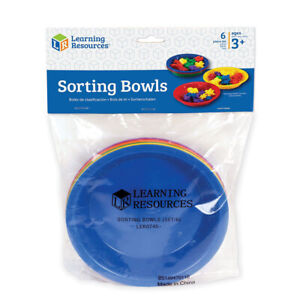 Learning Resources Coloured Sorting Bowls x 6 - Children Maths Counting Activity