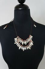 Silver Coral 2 Strand Leather Statement Necklace New Uno De 50 Long Short Adjust