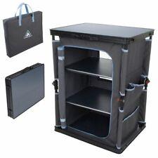 Camping-Schrank Flapbox 3 Fächer Campingküche Kofferschrank mit Faltmechanismus