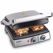 VonShef Panini Press Grill Sandwich Toastie Maker Machine Health Griddle 4 Slice