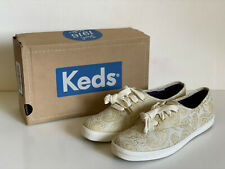NEW! KEDS CHAMPION SWIRLY PAISLEY PRINT GOLD CASUAL SHOES SNEAKERS 6.5 37 SALE