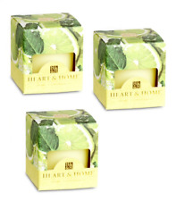 Pack of 3 Heart and Home Lime Splash Scented Votive Candles