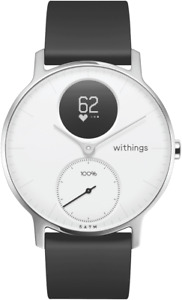 NEW Withings HWA0336WHITEN Steel HR Fitness Watch 36mm (White)