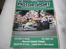 NIGEL MANSELL BRITISH GRAND PRIX BRANDS HATCH 1986 FRENCH GP WILLIAMS FW11 SENNA