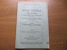 Revue Médicale de Louvain N°2 1933 Dysembryome malin de l'ovaire